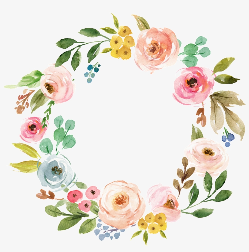 Este Fondos Es Corona De Flores Brillantes Flores De.