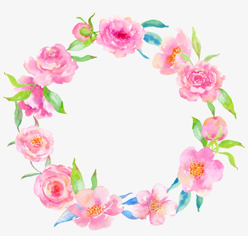 Pink Flower Delicate Garland Png.