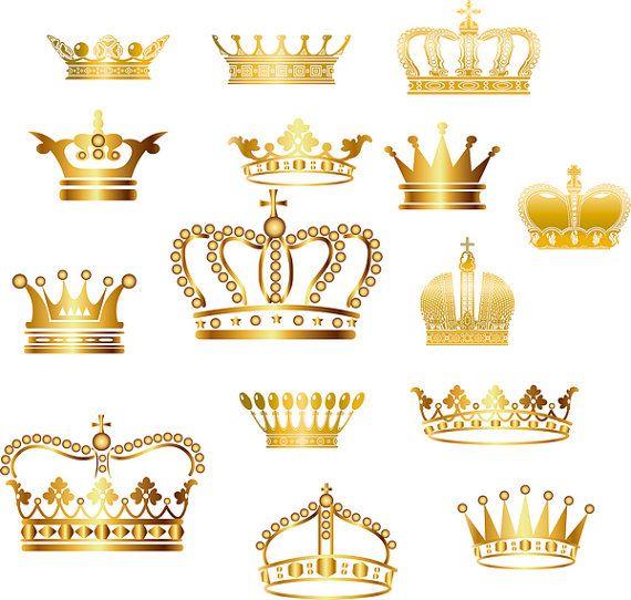 Corona de oro de Clip Art Corona de imágenes por BlueGraphic.