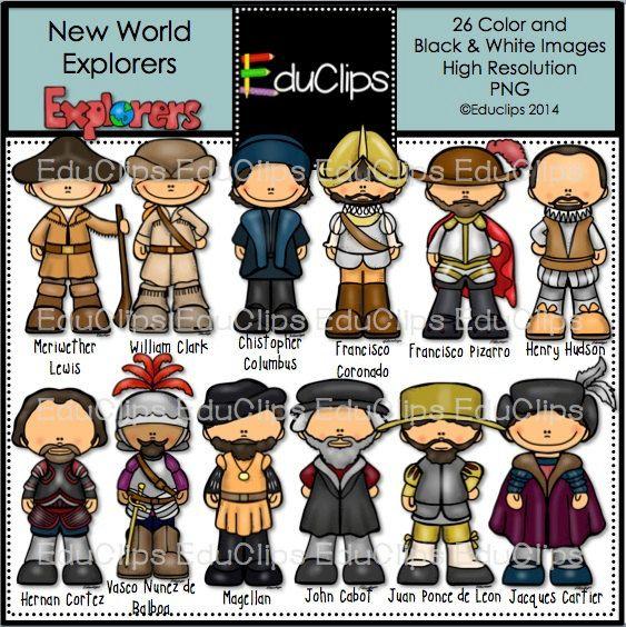 New World Explorers Clip Art Bundle.