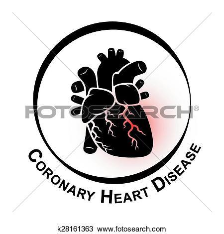 Clipart of Coronary Heart Disease Symbol ( Ischemic heart disease.