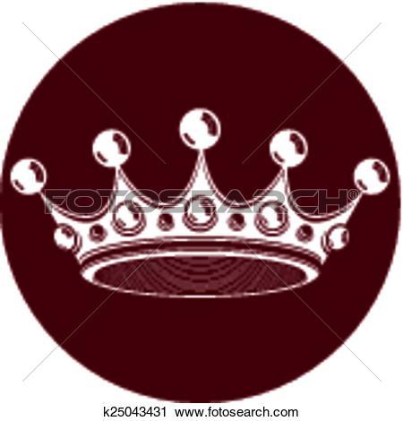 Clipart of 3d vintage crown, luxury coronet il k25043431.