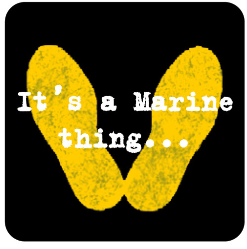 Yellow Footprints Marine Corp Clipart.