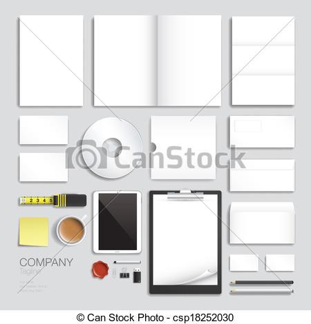 Vectors of Corporate brand identity vector template design set.