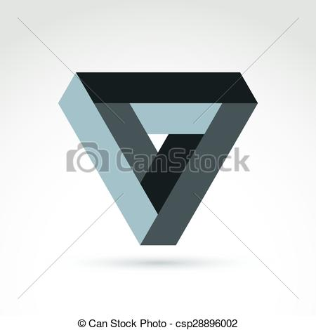 Vector Clipart of Vector abstract unusual triangle, corporate.