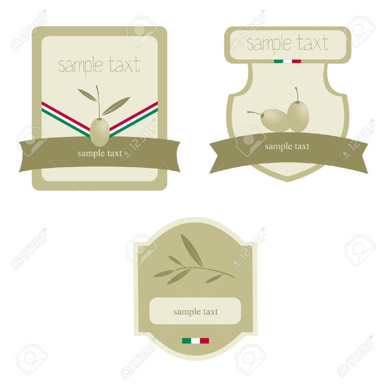 Olive Oil Label / Icon For The Corporate Brand Or Model Of Menu.