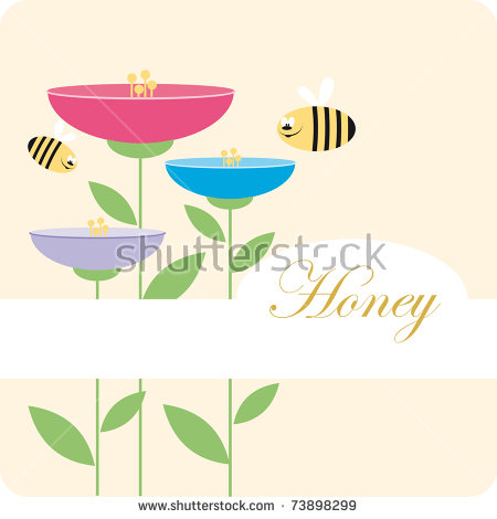 Honey Label Icon For The Corporate Brand Or Model Of Menu Stock.