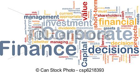 Drawings of Corporate finance is bone background concept.