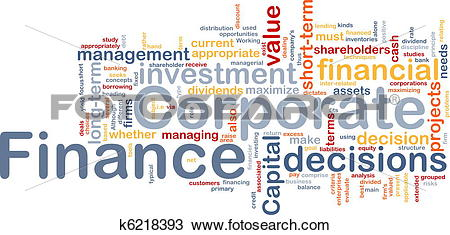 Drawing of Corporate finance is bone background concept k6218393.