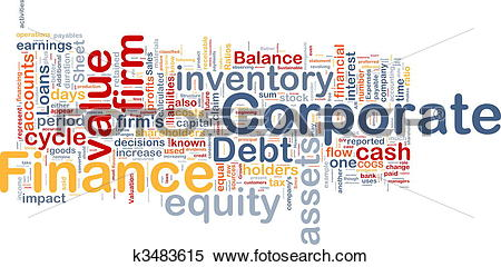 Stock Illustration of Corporate finance background concept.