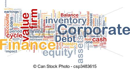 Stock Illustrations of Corporate finance background concept.
