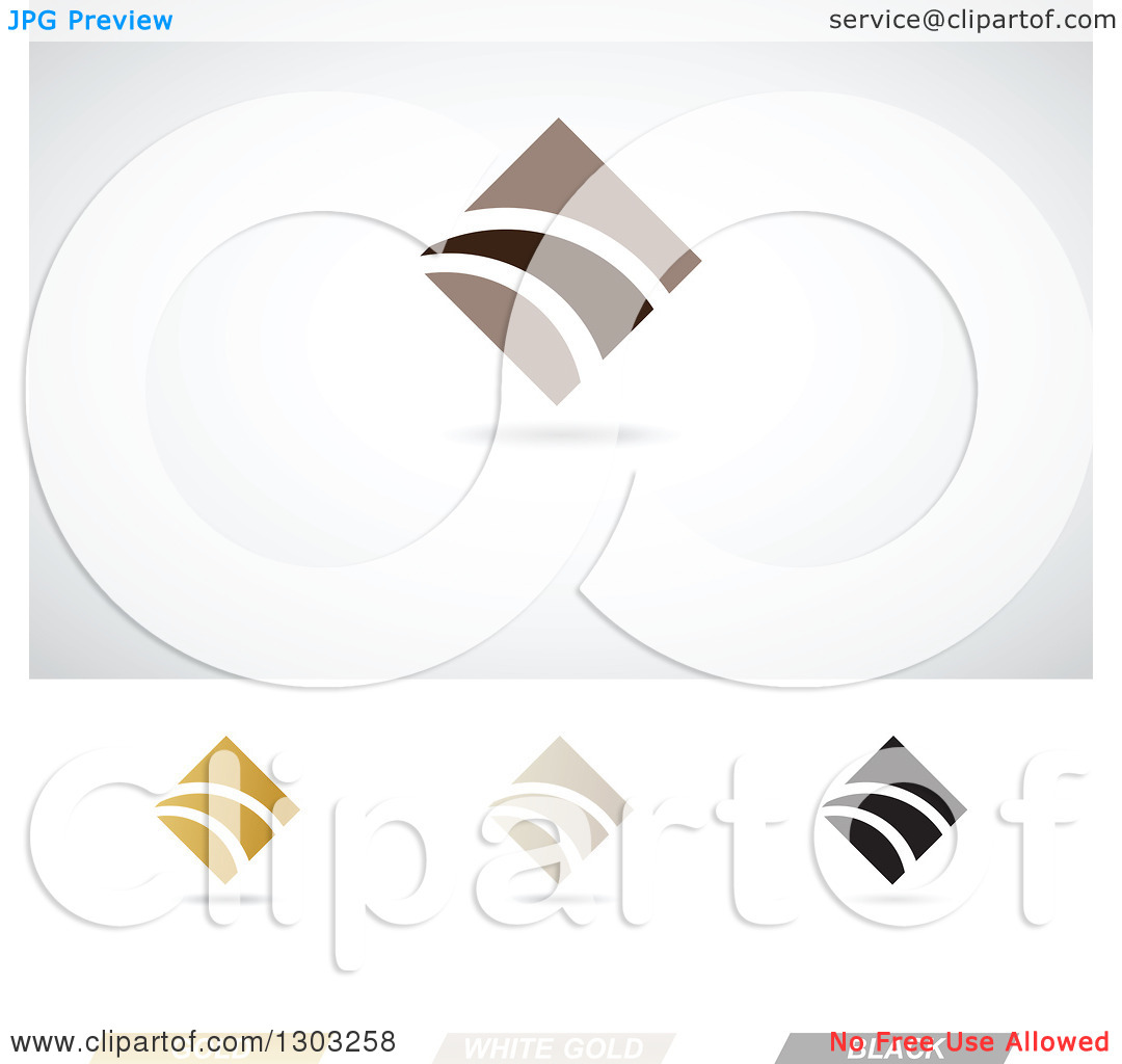 Clipart of Abstract Corporate Finance Diamond Themed Logos with.