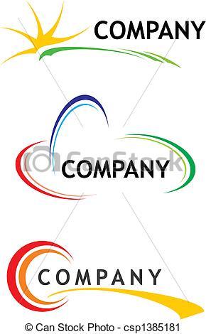 Corporate logo templates.