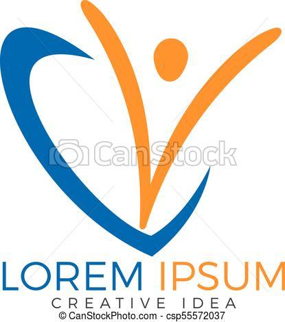 Happy Human logo design..