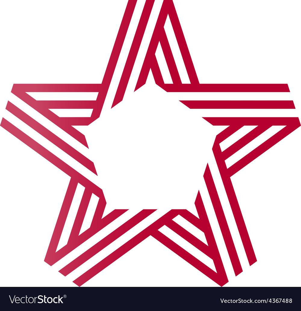 Star ribbon logo Corporate logotype template.