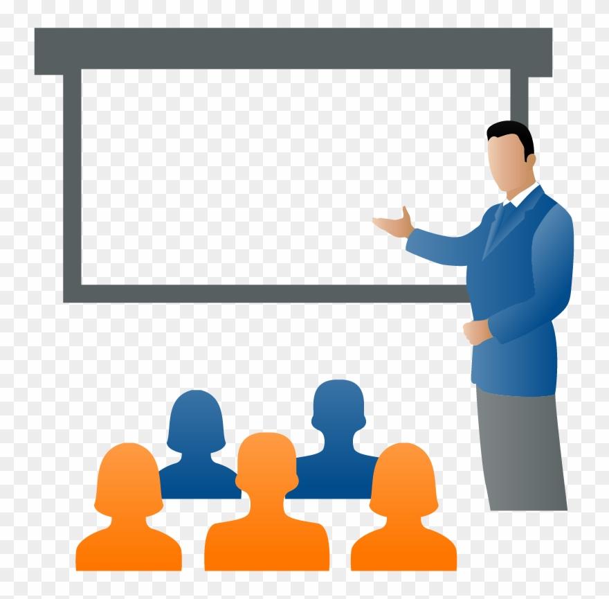 Discussion Clipart Corporate Trainer.
