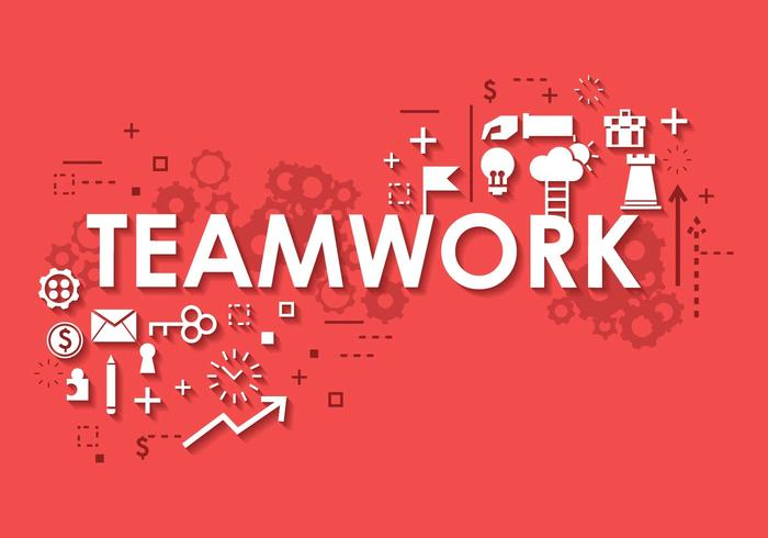 Business Teamwork Banner Background.