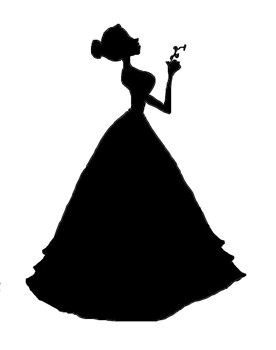 Victoria's silhouette made by me.