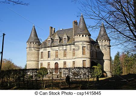 Images de Correze, bech, chateau, le, limousin.