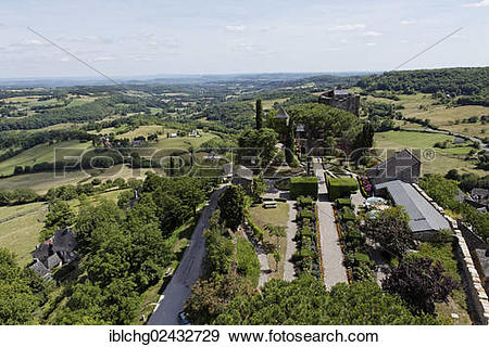 "Stock Photograph of ""The castle, Turenne, labelled Les Plus Beaux."