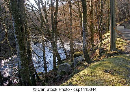 Stock Photo of The Correze River, near the village of Correze.
