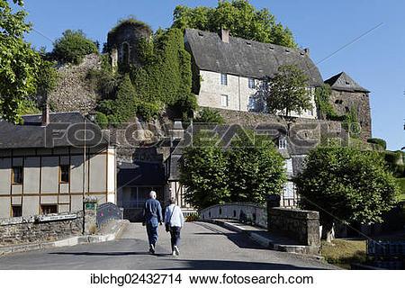 """Stock Photo of """"Townscape, Segur le Chateau, labelled Les Plus."""