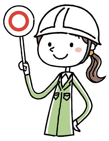 Women answer correct answer of work clothes Clipart Image.