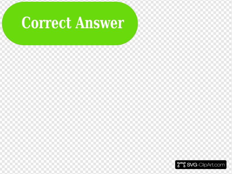 Correct Answer Button Green Clip art, Icon and SVG.