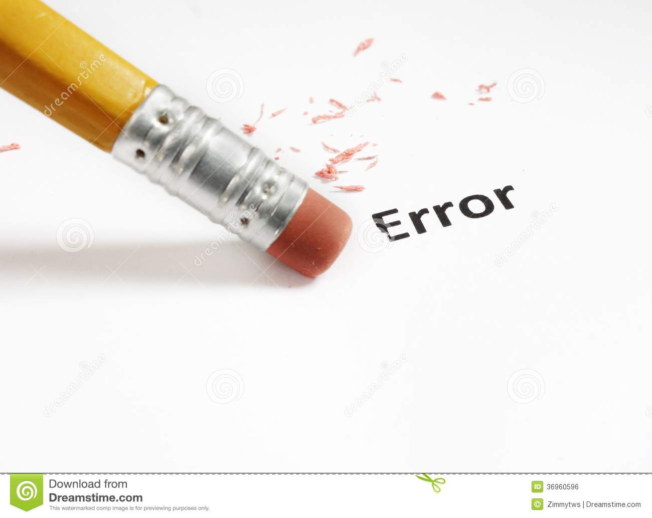 Error Correction Royalty Free Stock Image.