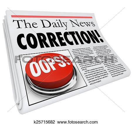 Stock Photo of Correction Newspaper Error Mistake Reporting Fix.