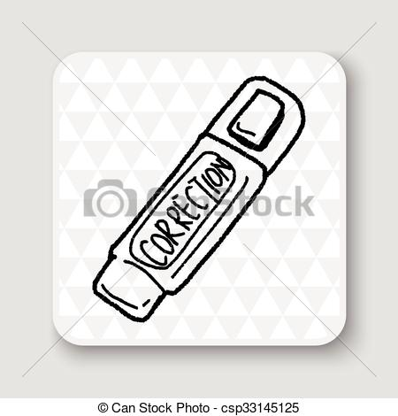 Vector Illustration of correction pen doodle csp33145125.