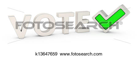 Stock Illustration of Vote correctly k13647659.