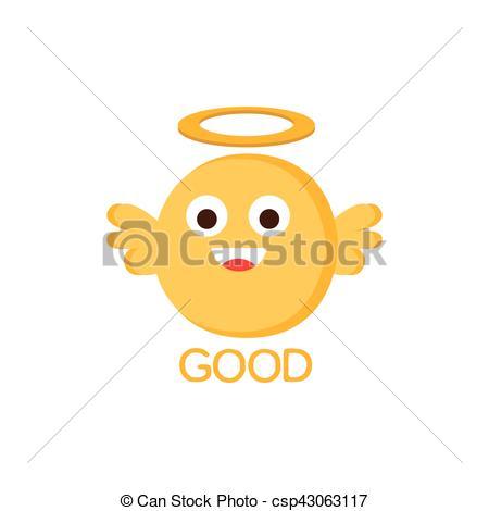 Vector Clip Art of Good Yellow Angel Word And Corresponding.