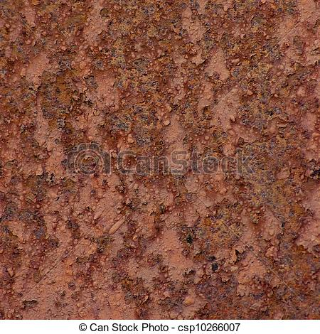 Stock Illustration of Rust metal surface texture, old weathered.
