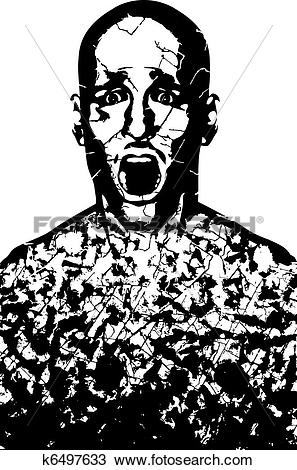 Clipart of Corroded man k6497633.