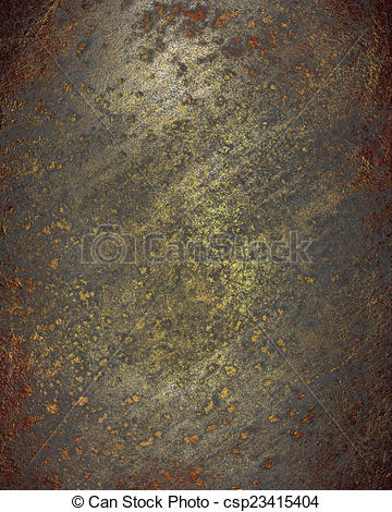 Stock Illustration of Old rusty metal plate heavily aged and.