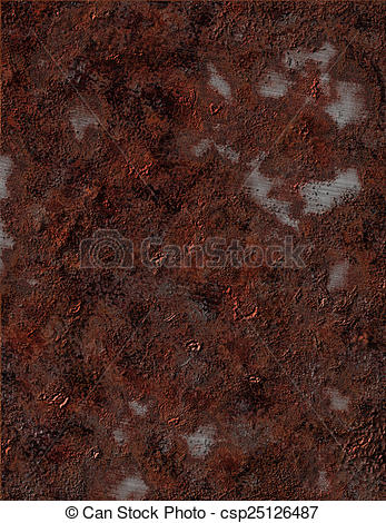 Stock Illustration of Corroded Metal csp25126487.