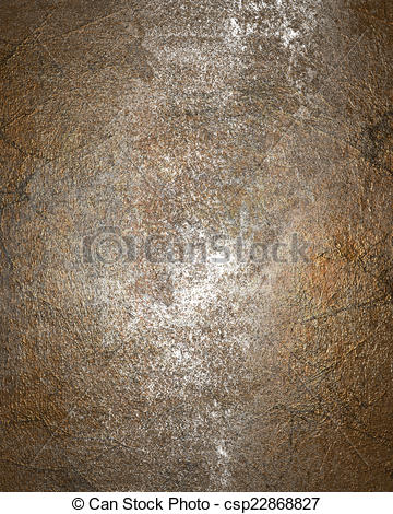 Clip Art of Old rusty metal plate heavily aged and corroded. The.