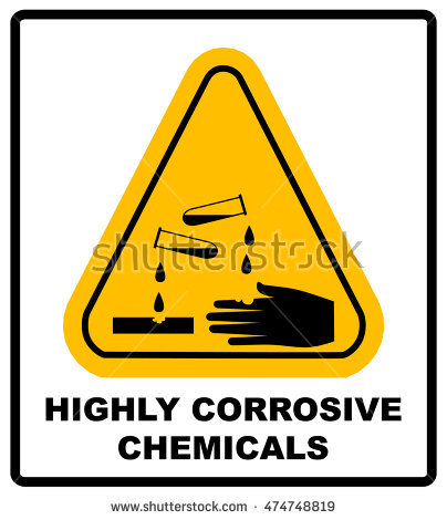 Corrosive Sign Stock Photos, Royalty.