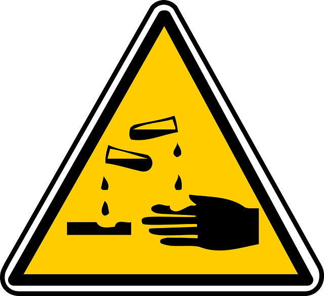 Free vector graphic: Warning, Signs, Corrosives.