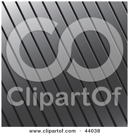 Clipart Illustration of a Square Corrugated Metal Background by.
