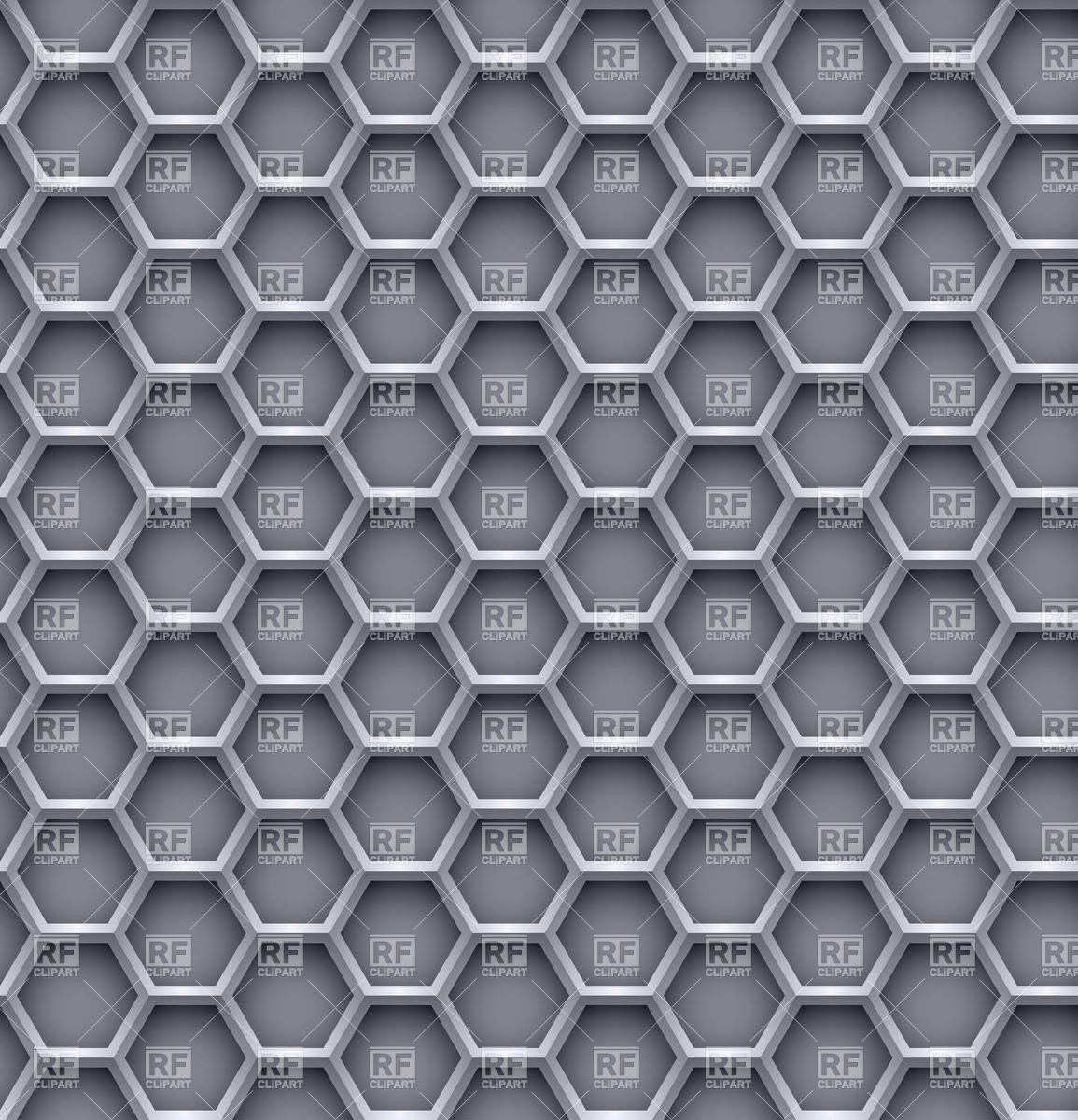 Hexagon steel background.