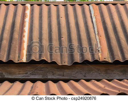 Picture of A Roof rusty corrugated iron metal texture csp24920876.