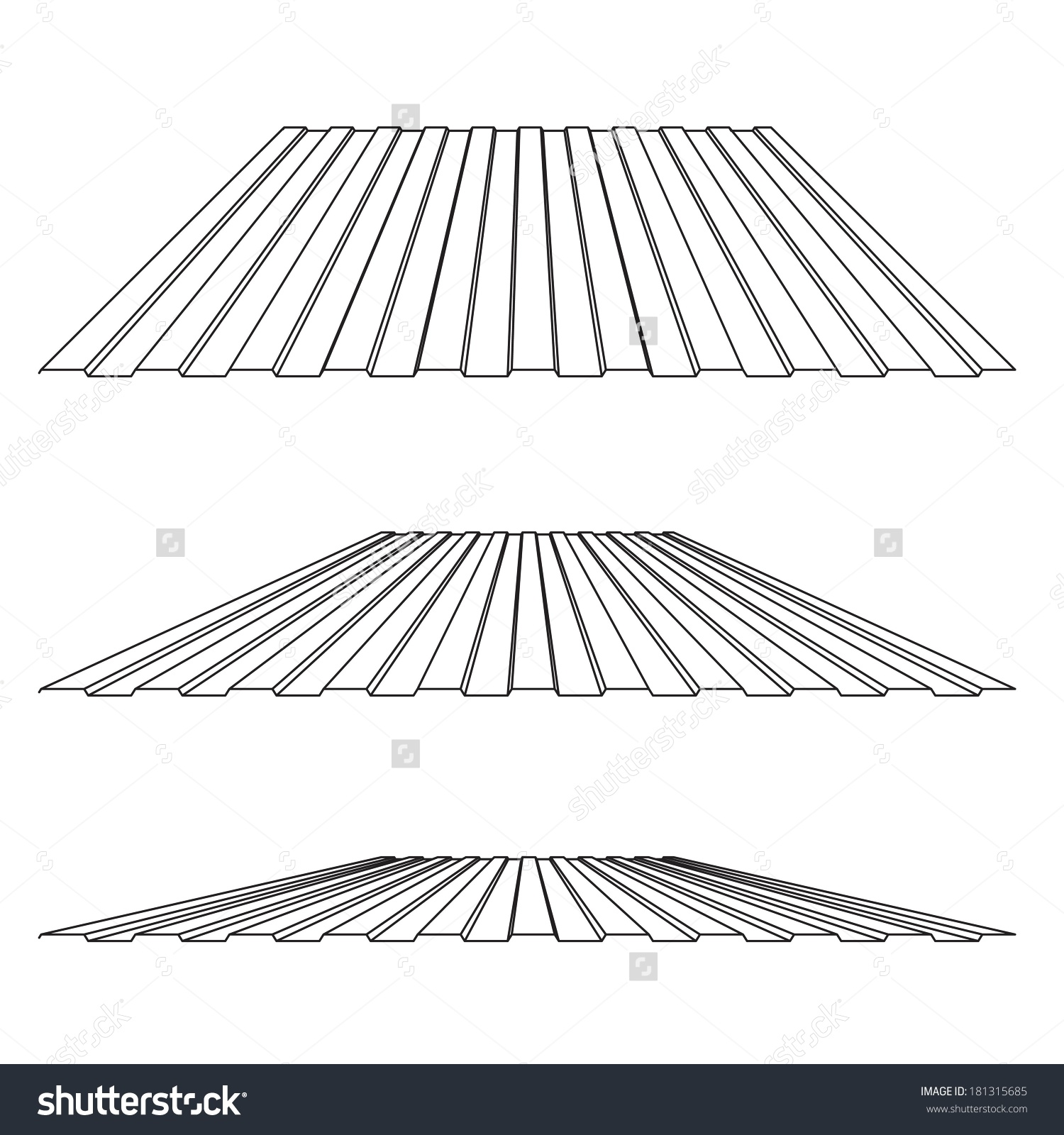 House Remodel Corrugated Metal Roof Corrugated Stock Vector.