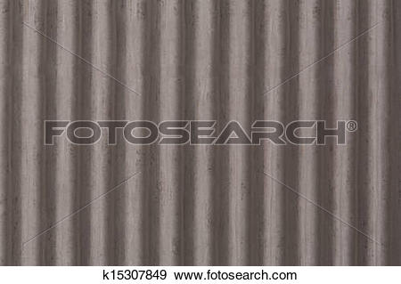 Stock Photograph of Vertical corrugated roof tile k15307849.