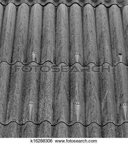 Stock Illustration of gray corrugated slate roof k16288306.