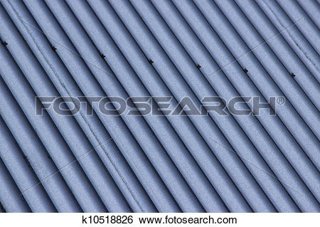 Stock Images of Corrugated Roof k10518826.