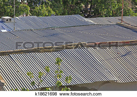 Pictures of large corrugated roof k18621698.