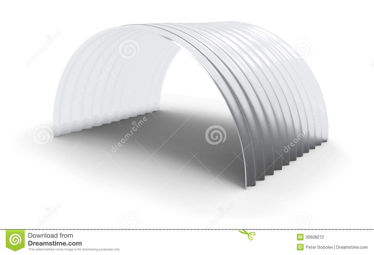Curved Corrugated Polycarbonate Sheet Stock Photography.