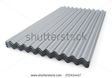Corrugated Sheet Roof Stock Photos, Royalty.